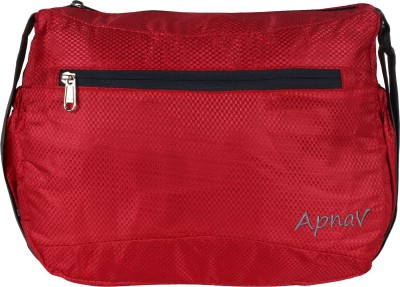 Apnav Boys, Girls, Women Red Polyester Sling Bag