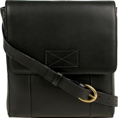 Hidesign Men Black Genuine Leather Sling Bag