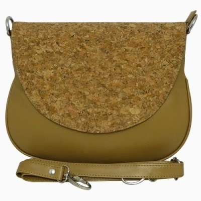 Chimera Leather Women Casual, Formal Beige Leatherette Sling Bag