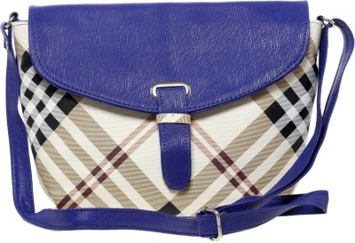 Tripssy Women Blue Leatherette Sling Bag