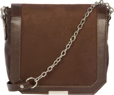Adaira Girls Casual Brown PU Sling Bag