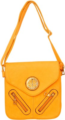 Parv Collections Women, Girls Casual Orange Leatherette Sling Bag