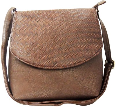 Kion Style Girls, Women Brown Leatherette Sling Bag