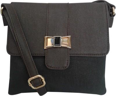 Falah Bag Works Girls Brown PU Sling Bag
