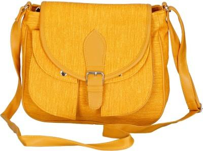 Belladona Women, Girls Yellow PU Sling Bag