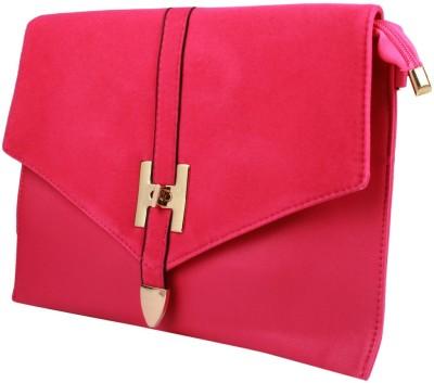 Fiza Women Pink Leatherette Sling Bag