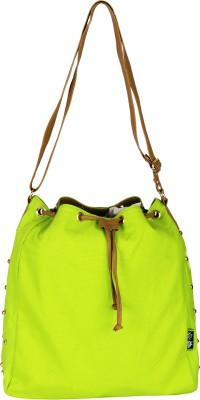 Kanvas Katha Girls, Women Green Canvas Sling Bag