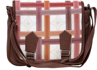 Tripssy Women Brown Leatherette Sling Bag