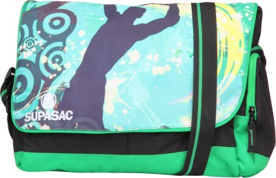 Supasac Girls Casual Green Polyester Sling Bag