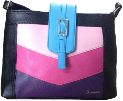 Sweera Women Multicolor Leatherette Sling Bag