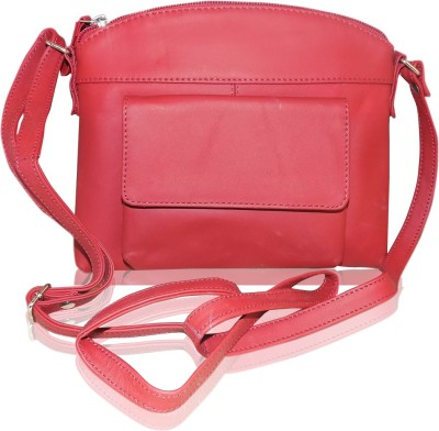 Style 98 Girls Red Genuine Leather Sling Bag