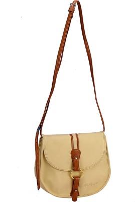 The Zoya Life Girls, Women Beige PU Sling Bag