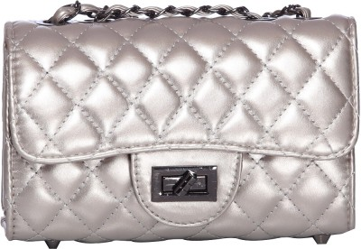 iva Women, Girls Silver Leatherette Sling Bag