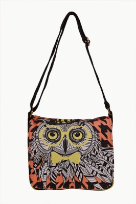 Carry on Bags Women Casual Black Canvas Sling Bag