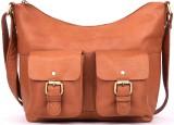 Cecille Women Brown Genuine Leather Slin...