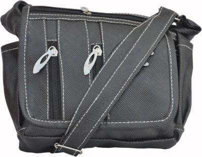 Solly Women Casual Black PU Sling Bag