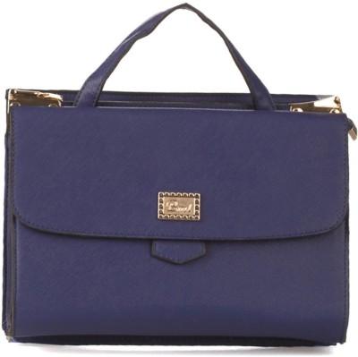 Vero Couture Women Blue PU Satchel