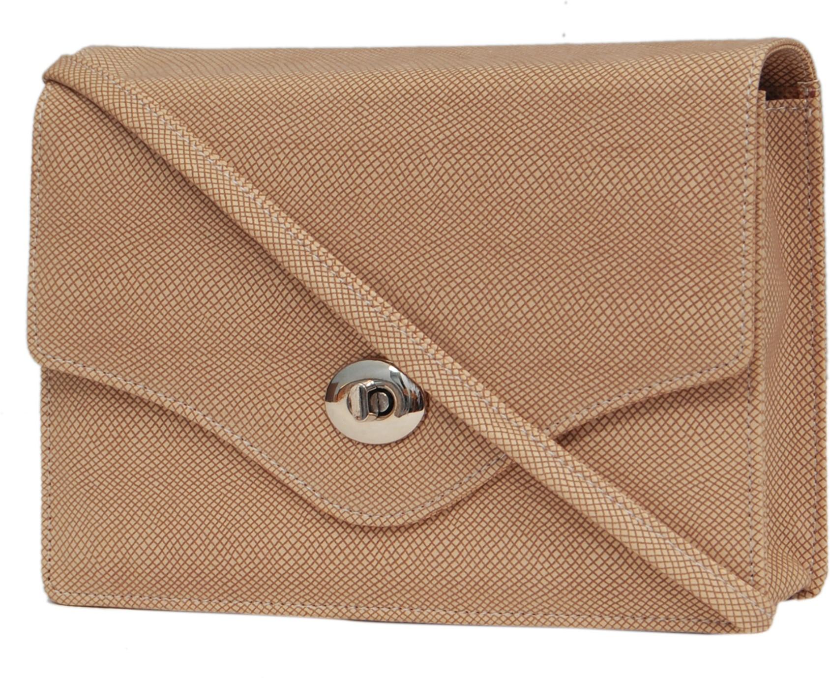 Sling bag below 500 - Borse Women Beige Pu Sling Bag