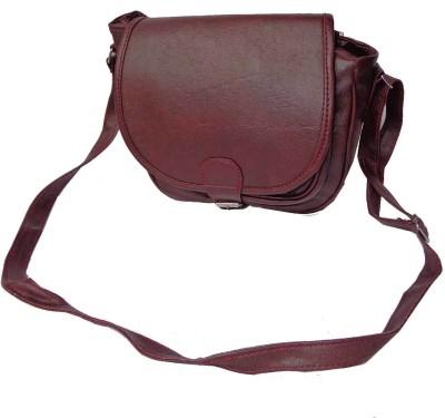 Good Life Stuff Women Maroon Leatherette Sling Bag