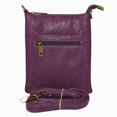 Chimera Leather Men, Women Casual, Formal Purple Leatherette Sling Bag