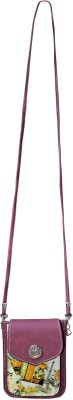 Bagathon India Girls Purple Canvas Sling Bag