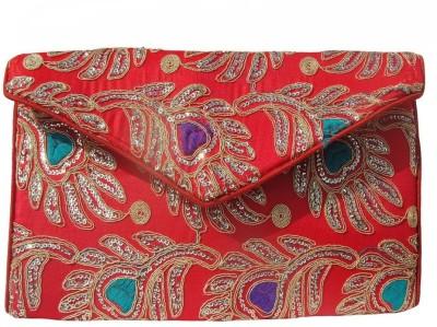 ALAR Women, Girls Red Silk Sling Bag