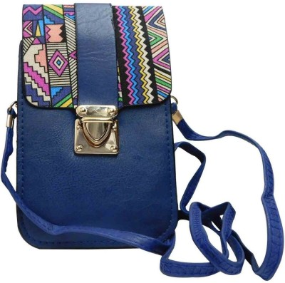 Laviva Girls Blue PU Sling Bag