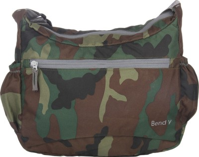 Bendly Women, Men Casual Green Polyester Sling Bag