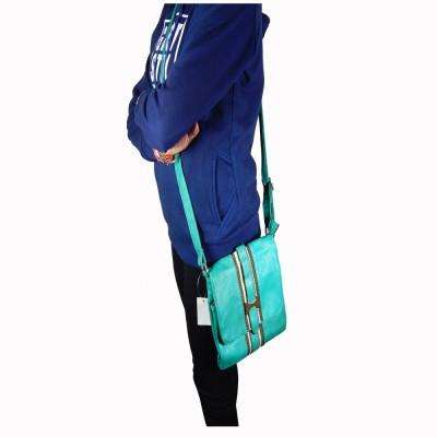 mezzo99 Girls Green PU Sling Bag