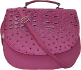 Kreative Bags Women Pink PU Sling Bag