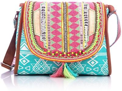 Shaun Design Women, Girls Blue Canvas Sling Bag