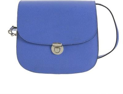 Peaubella Women, Girls Casual Blue Genuine Leather Sling Bag