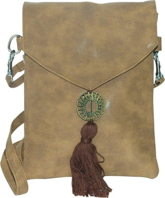 Arabian Nights Women Brown Leatherette Sling Bag