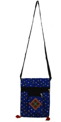 The Living Craft Girls Blue Cotton Sling Bag