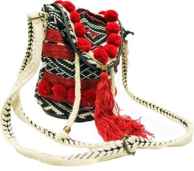 Tiara Women Multicolor Jute Sling Bag