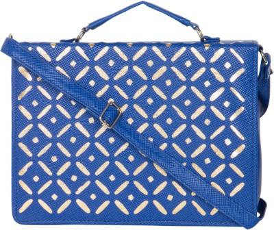 MTE Girls Blue Leatherette Sling Bag
