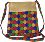 MK Women Multicolor Brocade Sling Bag