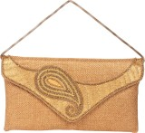 Reedra Women Gold Jute Sling Bag