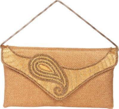 Reedra Girls, Women Gold Jute Sling Bag