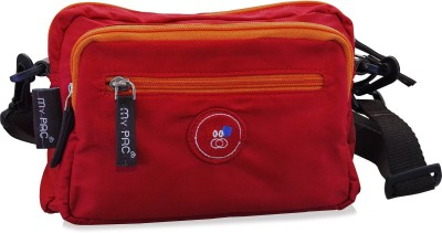 My Pac Db Men Red Polyester Sling Bag