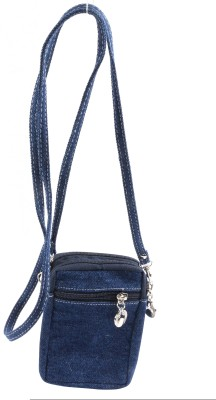 Bagathon India Men, Boys, Girls, Women Casual Blue Denim Sling Bag