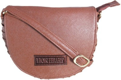 Lion Heart Girls, Women Brown PU Sling Bag