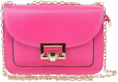 Daks Women Pink PU Sling Bag