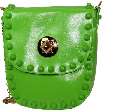 Gift Island Girls Green Leatherette Sling Bag