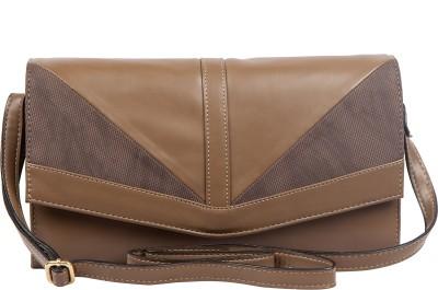 Lomond Women Evening/Party Brown PU Sling Bag