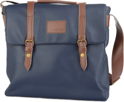 Easies Men Blue Polyester Sling Bag