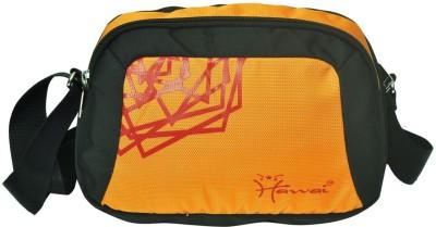 Hawai Men, Women Black, Orange Polyester Sling Bag