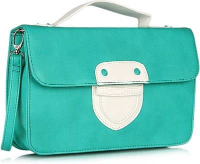 Addons Women Casual Green PU Sling Bag