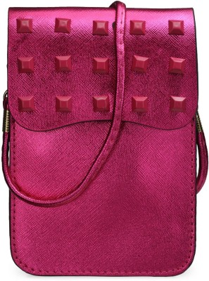 Bags Craze Women Pink PU Sling Bag