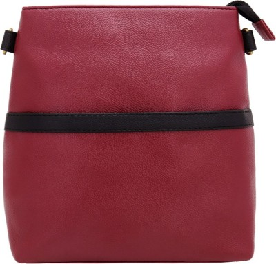 Borsavela Women Casual Red PU Sling Bag
